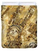 Manhattan Map Antique Duvet Cover