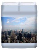 Manhattan Overview Duvet Cover