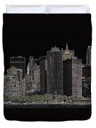 Manhattan Skyline Abstract Duvet Cover
