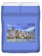 Manhattan Skyline From Hudson River Duvet Cover by Juli Scalzi