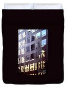 Manhattan Skyscraper Reflection Duvet Cover