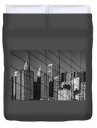 Manhattan Through The Brooklyn Bridge Duvet Cover