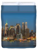 Manhattan Twilight IIi Duvet Cover by Clarence Holmes