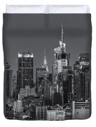 Manhattan Twilight Ix Duvet Cover by Clarence Holmes