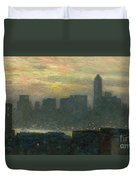 Manhattans Misty Sunset Duvet Cover