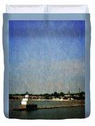 Manitowoc Breakwater Light 2.0 Duvet Cover