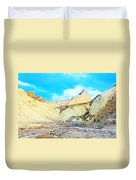 Manly Beacon From Golden Canyon In Death Valley National Park-california Duvet Cover