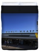 Manly Wharf Duvet Cover