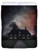 Manor At Night Duvet Cover