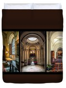 Mansion Hallway Triptych Duvet Cover by Adrian Evans