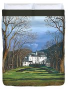Mansion In The Woods Duvet Cover