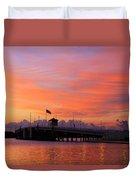 Mantoloking Bridge At Dawn Duvet Cover