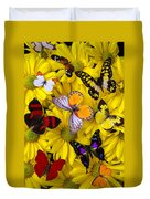 Many Butterflies On Mums Duvet Cover