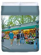 Many Flower Shops In Tallinn-estonia Duvet Cover