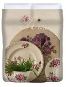 Many Rose Designs Still Life  Duvet Cover