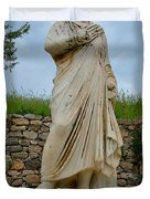 Many Sculptures Lost Their Heads In Ephesus-turkey Duvet Cover