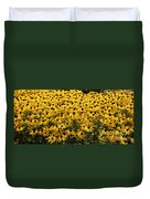 Many Yellow Blooms Duvet Cover