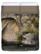 Maori Rock Art Duvet Cover