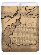 Map Of Alexandria 1798 Duvet Cover