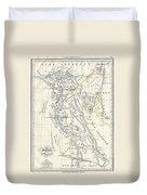 Map Of Ancient Egypt Duvet Cover