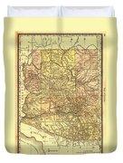 Map Of Arizona 1883 Duvet Cover