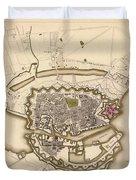 Map Of Copenhagen 1837 Duvet Cover