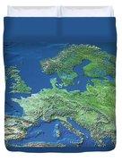 Map Of Europe Duvet Cover