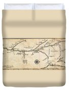 Map Of French Discoveries In America 1673 Duvet Cover