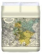 Map Of Germany 1861 Duvet Cover
