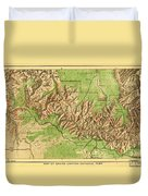 Map Of Grand Canyon National Park Duvet Cover