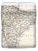 Map Of India Duvet Cover