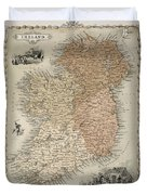 Map Of Ireland Duvet Cover by C Montague