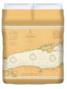Map Of Lake Ontario 1904 Duvet Cover