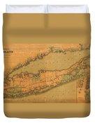 Map Of Long Island 1888 Duvet Cover