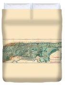 Map Of Manhattan Duvet Cover
