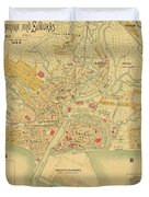 Map Of Manila 1899 Duvet Cover