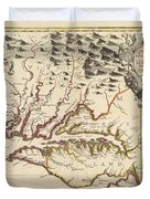 Map Of Maryland 1676 Duvet Cover