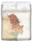 Map Of San Francisco California Duvet Cover
