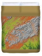 Map Of Southern Appalachia Duvet Cover