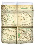 Map Of Spanish Holdings In North America 1769 Duvet Cover