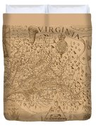 Map Of Virginia 1698 Duvet Cover