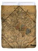 Map Of Washington 1862 Duvet Cover