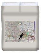 Map Overland Park Kansas Duvet Cover