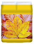Maple Leaf In Fall Duvet Cover