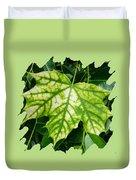 Maple Leaf In The Laurel Duvet Cover