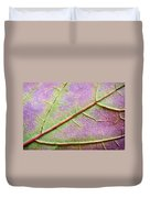 Maple Leaf Macro Duvet Cover