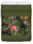 Maple Leaf On Water Duvet Cover