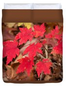 Maple Leaf Palette Duvet Cover