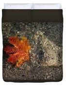 Maple Leaf - Playful Sunlight Patterns Duvet Cover