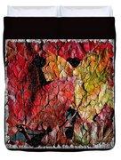 Maple Leaves Cracked Square Duvet Cover